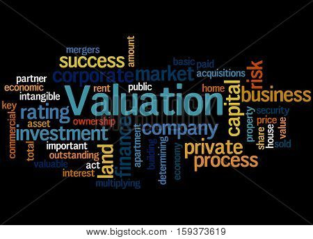 Valuation, Word Cloud Concept 8