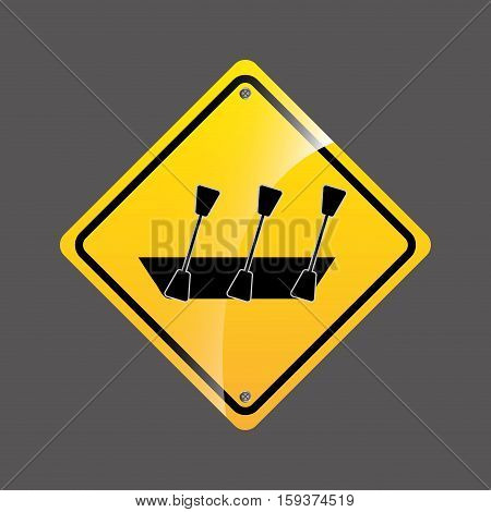 rowing boat sign sport extreme design vector illustration eps 10