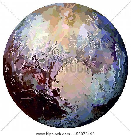 Vector Pluto Planet