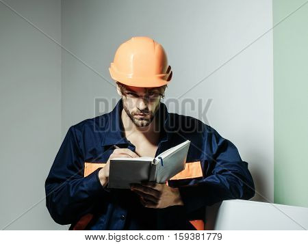 Handsome Man Keeps Accounting Book