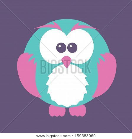 owl cute cartoon colorful design flat style vector stock