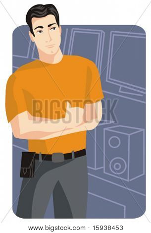 Shopping vector illustration series. Shopping man. Check my portfolio for much more of this series as well as thousands of other great vector items.