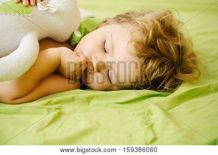 Cute Baby Boy Sleeps