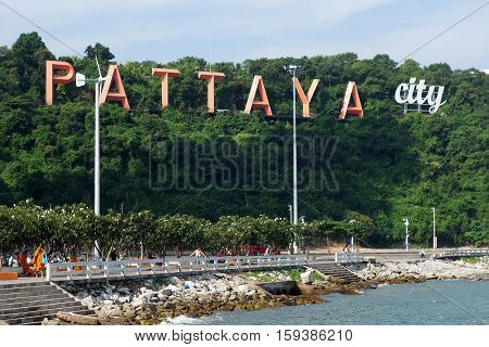 Coast Of The Pattaya Beach In Pattaya, Thailand