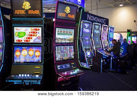 Gaming Slot Machines In A Casino