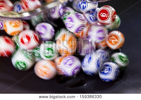 Colourful Lottery Balls In A Sphere