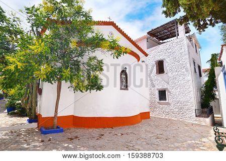 traditional church at Hydra island Saronic Gulf Greece