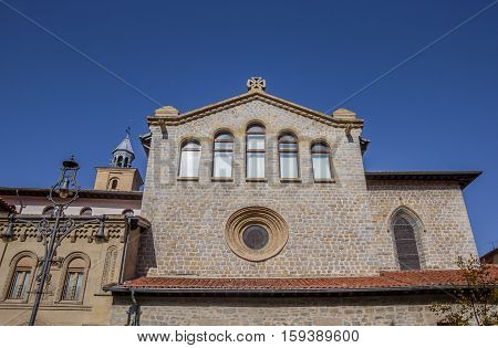 Facade Of The San Nicolas Church In Pamplona