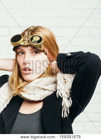 Pretty Girl With Watch Gears