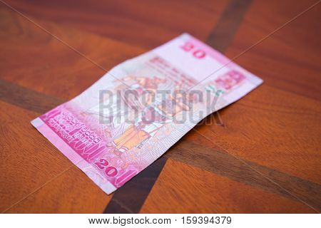 Twenty Rupees.