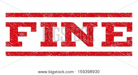 Fine watermark stamp. Text tag between horizontal parallel lines with grunge design style. Rubber seal red stamp with dirty texture. Vector ink imprint on a white background.