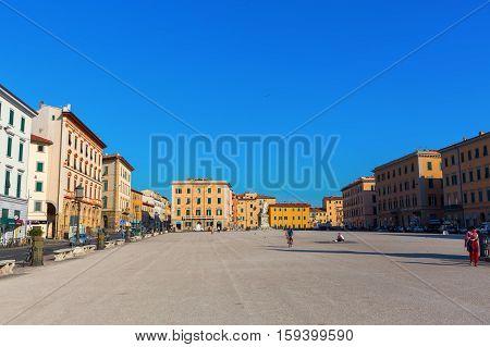 Piazza Della Repubblica In Livorno, Italy