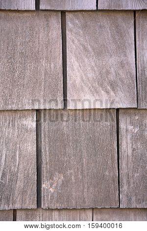 Old Cedar Shingles wall. Wood Shake Wall. Building wall. Wood shake.