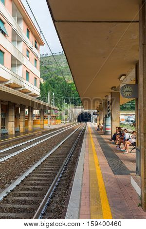 Railway Station In Monterosso Al Mare, Italy
