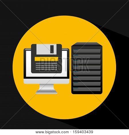 pc data base floppy disk arrow vector illustration eps 10