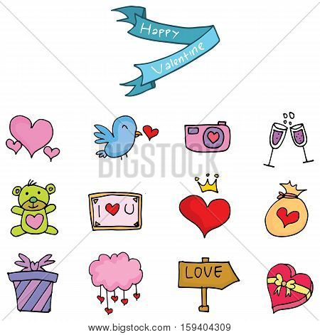 Element valentine day collection stock vector illustration