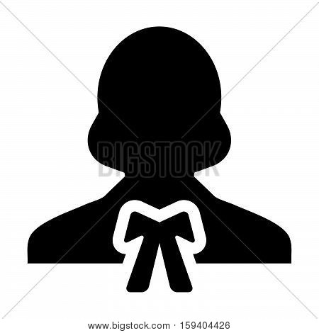 Woman Advocate, Lawyer, Human, Avatar, Law Person Vector Icon illustration