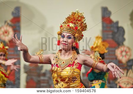 Bali, Indonesia July 02, 2014: Traditional Dance Legong Is Performed By Local Professional Actors In