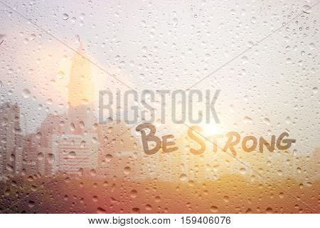 Draw Bestrong On Window