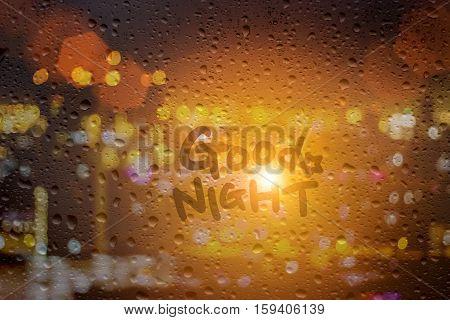 Draw Good Night On Window