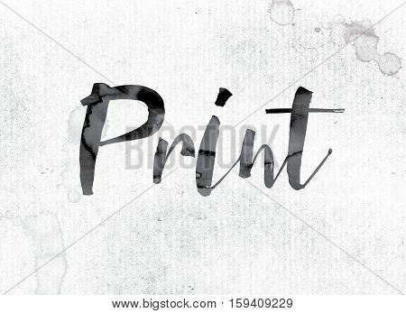 Print Concept Painted In Ink