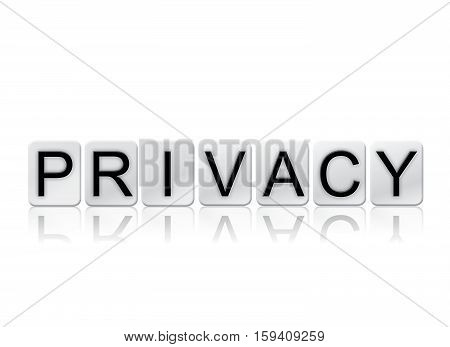 Privacy Isolated Tiled Letters Concept And Theme