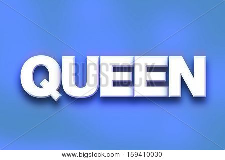 Queen Concept Colorful Word Art