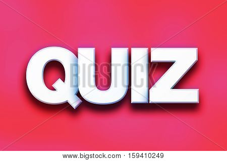 Quiz Concept Colorful Word Art