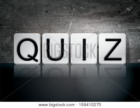 Quiz Tiled Letters Concept And Theme