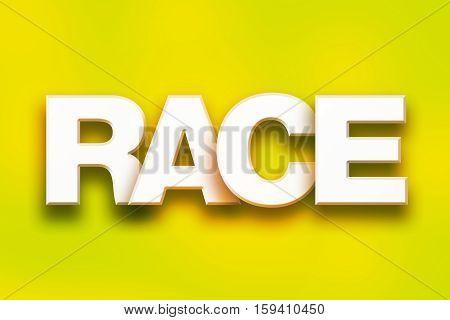 Race Concept Colorful Word Art