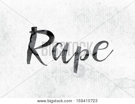 Rape Concept Painted In Ink