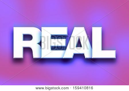 Real Concept Colorful Word Art