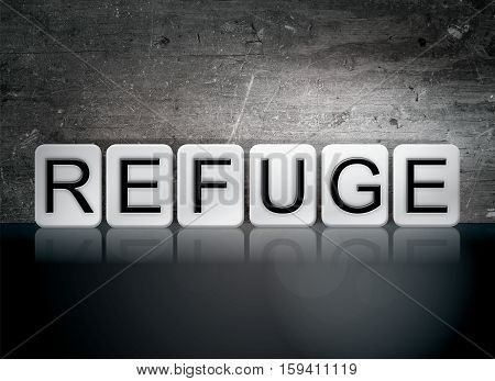 Refuge Tiled Letters Concept And Theme