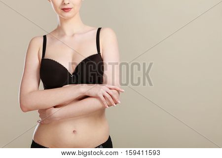 Girl Getting Comfortable In Her Bra
