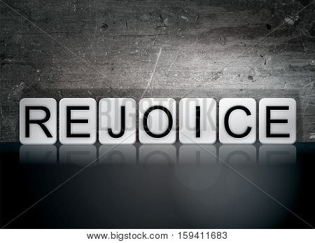 Rejoice Tiled Letters Concept And Theme
