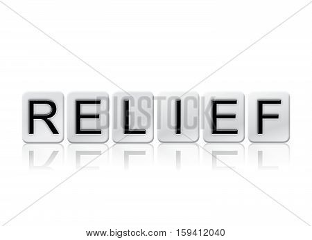Relief Isolated Tiled Letters Concept And Theme