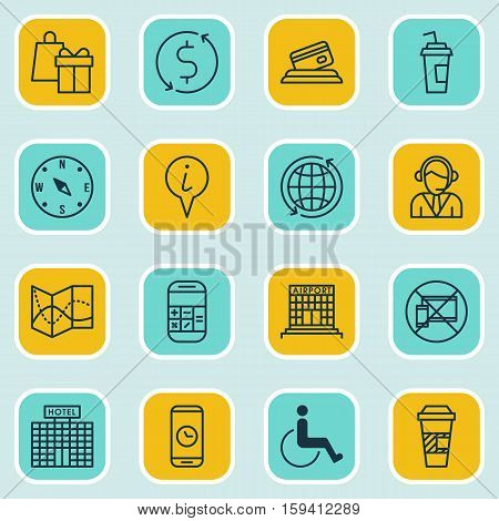 Set Of Airport Icons On Credit Card, Calculation And Airport Construction Topics. Editable Vector Illustration. Includes Gift, Credit, Dollar And More Vector Icons.