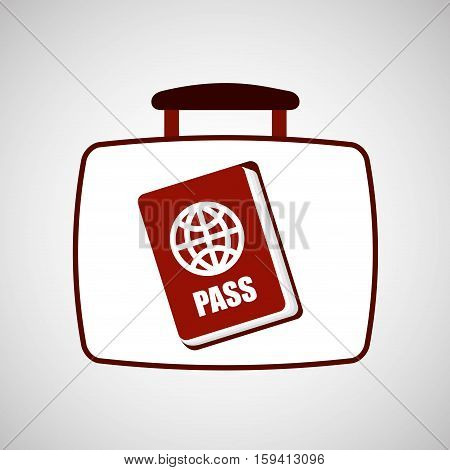 travel concept passport document vector illustration eps 10