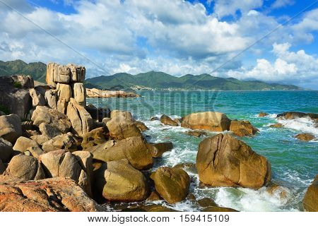 Hon Chong island popular tourist destinations at Nha Trang. Vietnam.