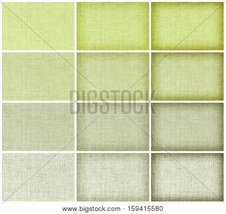 Collection Natural Green Sackcloth Texture For Background, Green Colour