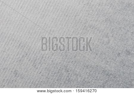 Close up of gray striped cardboard background