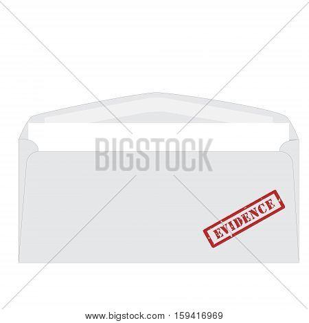 White Envelope Stamp Evidence