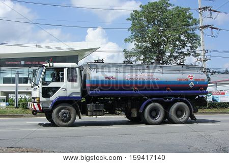 CHIANG MAI THAILAND - OCTOBER 28 2016: Oil Truck of Dao Viang Ping Oil transport Company. On road no.1001 8 km from Chiangmai city.