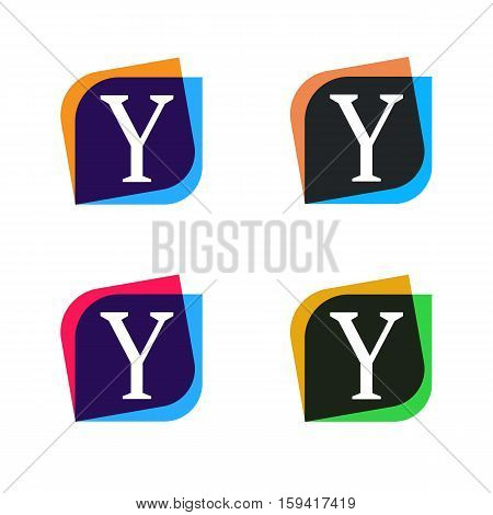 Abstract shape element company logo sign icon vector design. Y letter logotype