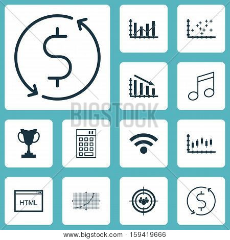 Set Of 12 Universal Editable Icons. Can Be Used For Web, Mobile And App Design. Includes Icons Such As Investment, Coding, Focus Group And More.