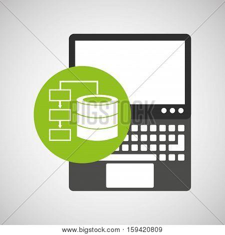 laptop technology data base center vector illustration eps 10