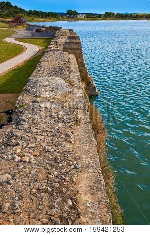 Prosepina roman dam near Merida Badajoz in Spain by the Via de la Plata way image shot from the exterior public floor