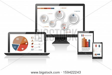 Infographics Web Design On Different Devices