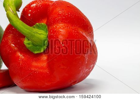 Red peppers isolated on white background food