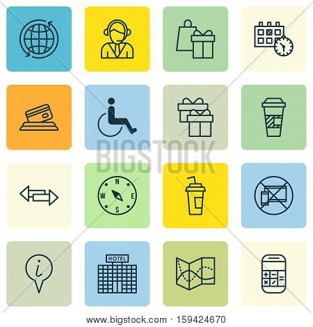 Set Of Airport Icons On Crossroad, Info Pointer And Appointment Topics. Editable Vector Illustration. Includes World, Mobile, Travel And More Vector Icons.